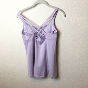 Lucy criss-cross lavender tank; size estimated